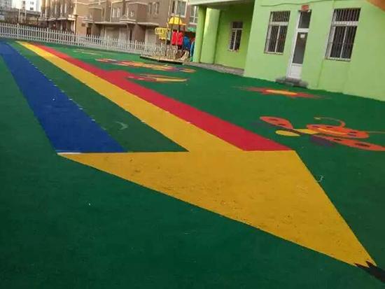 丹东安民镇幼儿园塑胶