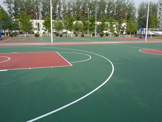 伊春单位硅PU篮球场