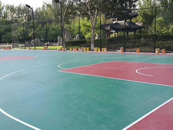 沈阳移动公司篮球场硅PU